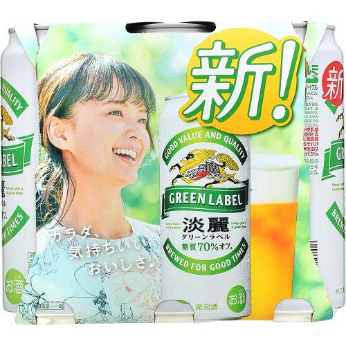 キリン淡麗グリーン6缶500MLX6